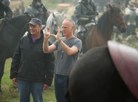 Director Alan Taylor on set of Marvel's Thor: The Dark World