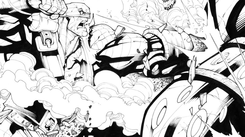 Age of Apocalypse preview inks by Gerardo Sandoval