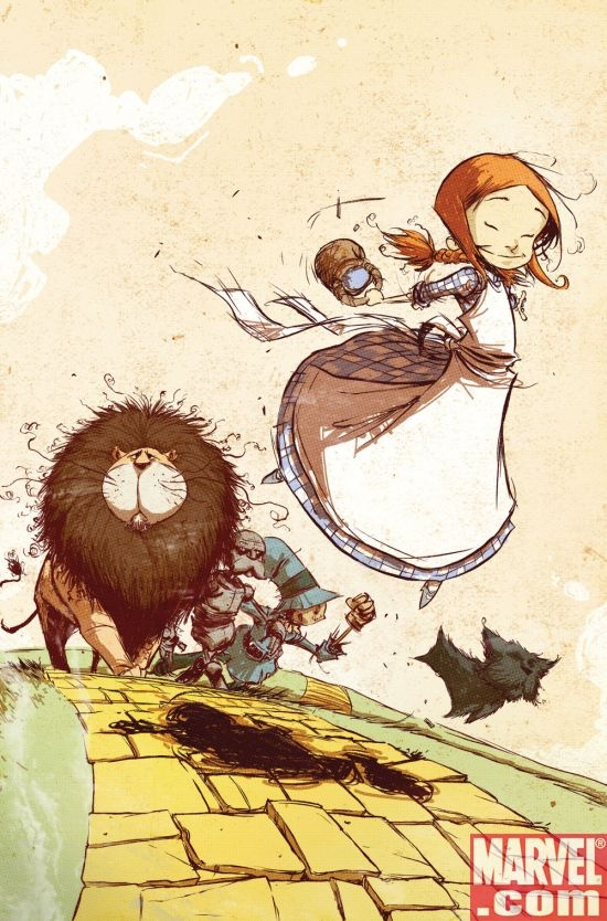 THE WONDERFUL WIZARD OF OZ #1 cover by Skottie Young