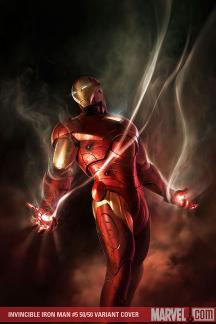 Invincible Iron Man (2008) #5 (MEINERDING (50/50 COVER))