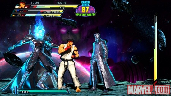 Marvel vs. Capcom 3 screenshot: Galactus vs. Ryu