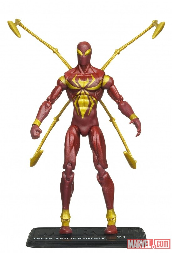 Iron Spider-Man 3 3/4 Inch Marvel Universe Action Figure from Hasbro, Wave 9