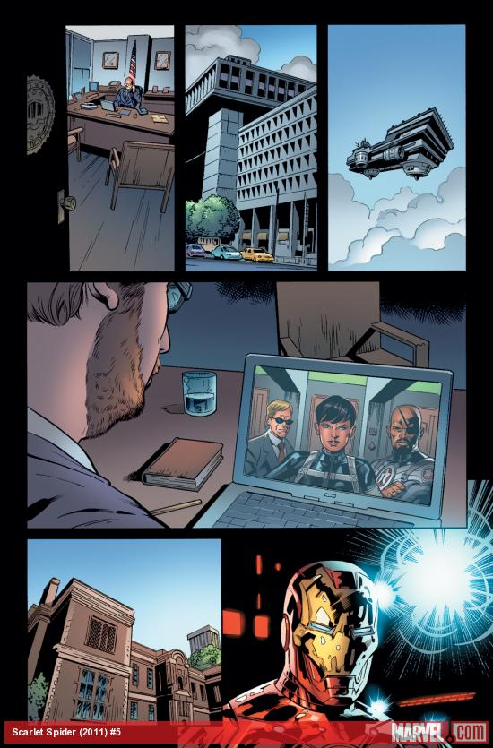 Scarlet Spider #5 preview art by Neil Edwards