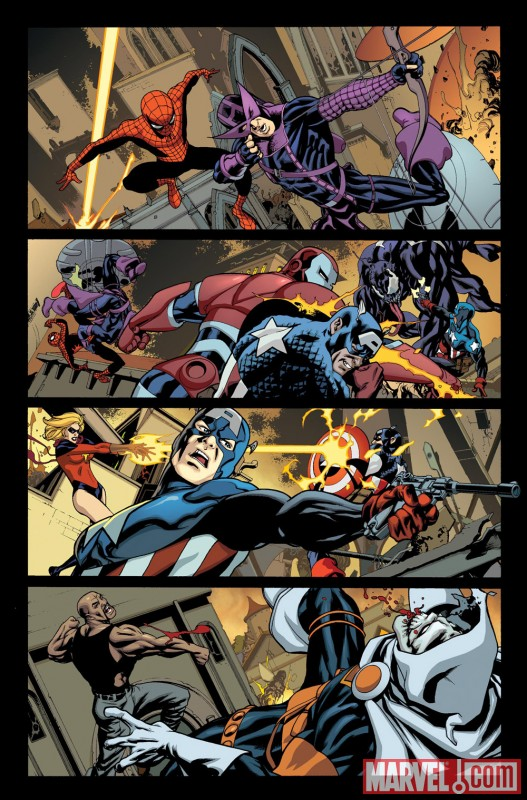 Image Featuring Moonstone, The Winter Soldier, Venom (Mac Gargan), Bullseye, Luke Cage, Captain America, Norman Osborn, Spider-Man