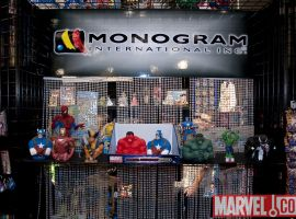 Marvel busts at the Monogram International booth at Toy Fair 2010
