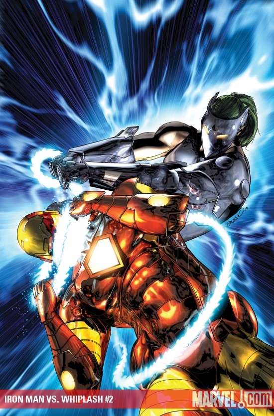 Iron Man vs. Whiplash #2 cover by Brandon Peterson