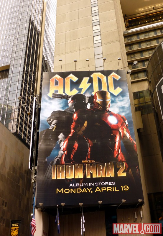 AC/DC: Iron Man billboard in New York City
