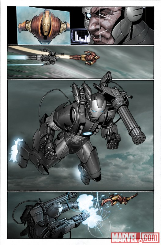 War Machine from INVINCIBLE IRON MAN #11 by Salvador Larroca