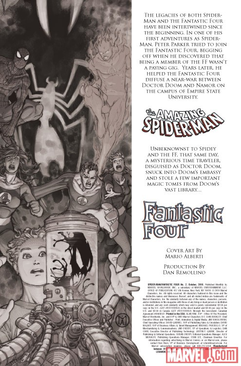 SPIDER-MAN/FANTASTIC FOUR #2 recap page