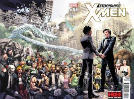 Astonishing X-Men #51 cover by Dustin Weaver