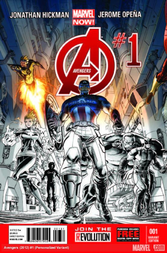AVENGERS 1 PERSONALIZED VARIANT (NOW, WITH DIGITAL CODE, INTERIORS ONLY)