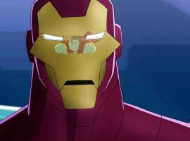 Iron Man steels himself for Hyperion's attack in Marvel's Avengers Assemble