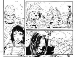 SKAAR: SON OF HULK #11 black and white preview art by Ron Lim