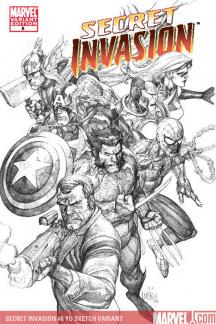 Secret Invasion (2008) #8 (YU SKETCH VARIANT)