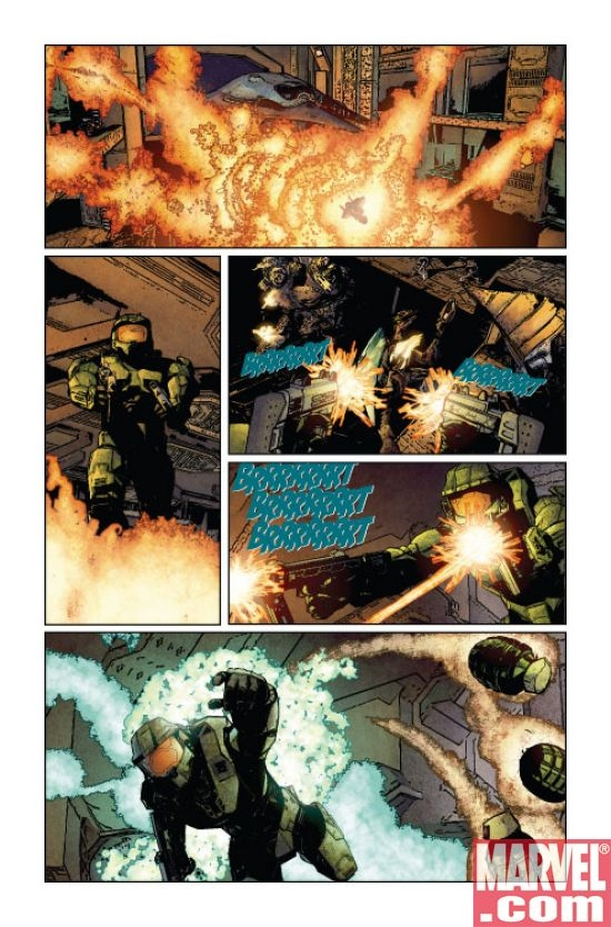 Halo: Uprising #1 interior art