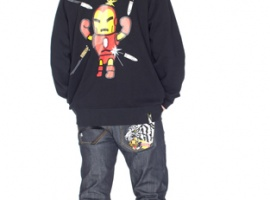 tokidoki X Marvel Men's Iron Man Bullet Proof Hoodie Back