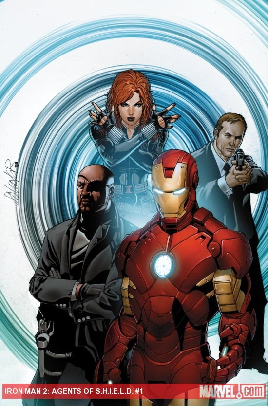 Iron Man 2  Agents of S H I E L D  cover art by Salvador LarrocaIron Man 2 Cover Art