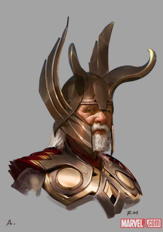 Odin concept art by Ryan Meinerding, from the Art of Thor