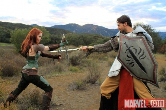 Felicia Day as Tallis in 'Dragon Age: Redemption'