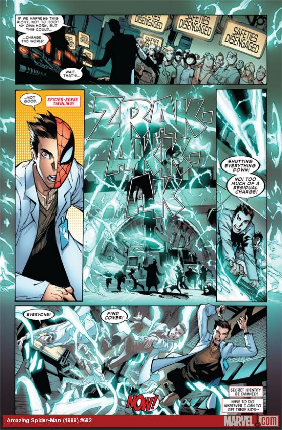 Amazing Spider-Man #692 preview art by Humberto Ramos