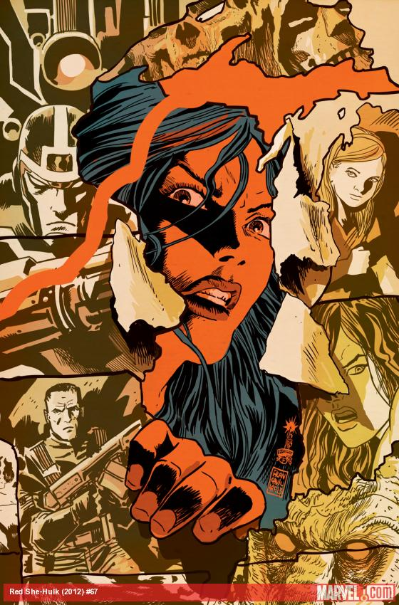Red She-Hulk #67 cover by Francesco Francavilla