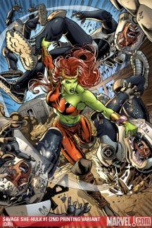 Savage She-Hulk (2009) #1 (2ND PRINTING VARIANT)