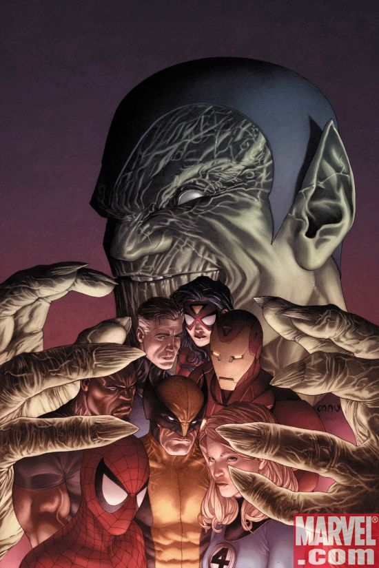 SECRET INVASION #1 variant cover by Steve McNiven