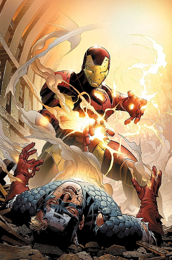 IRON MAN/CAPTAIN AMERICA: CASUALTIES OF WAR (2008) #1 (IRON MAN COVER) COVER
