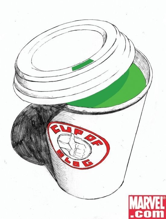 Cup of Blog art by Joe Quesada