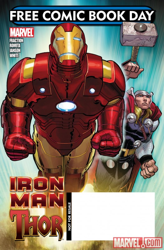 IRON MAN/THOR cover by John Romita Jr