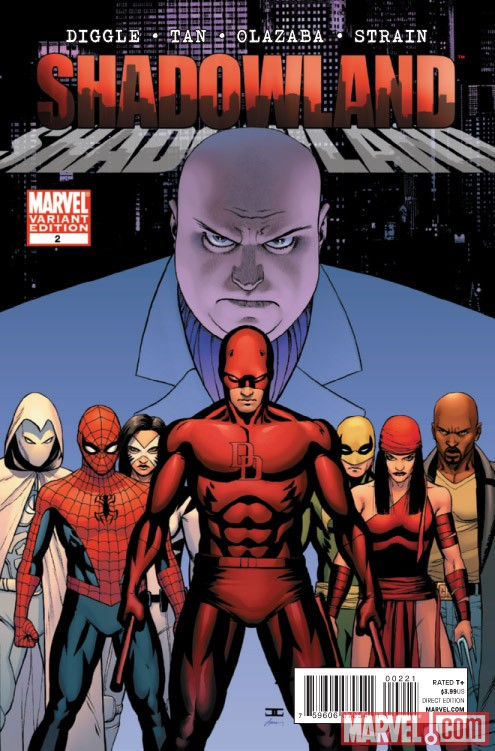 SHADOWLAND #2 variant cover by John Cassaday