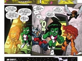 SUPER HERO SQUAD #11 preview page by Dario Brizuela & Marcelo DiChiara