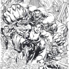 Defenders #1  Inked Variant Cover by Neal Adams