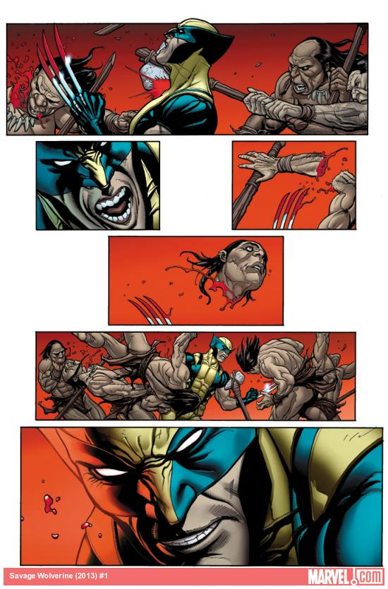 Savage Wolverine #1 preview art by Frank Cho