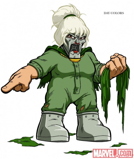 Concept art of CoCo Von Doom from The Super Hero Squad Show
