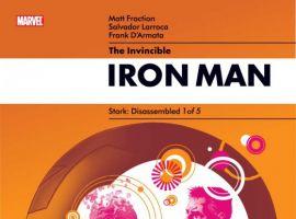 INVINCIBLE IRON MAN #20 50/50 cover by Salvador Larroca and Rian Hughes
