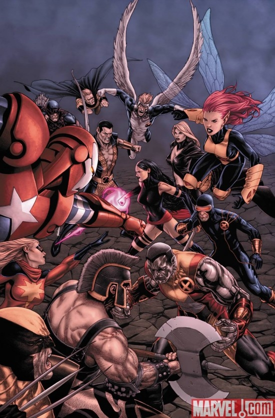 DARK AVENGERS/UNCANNY X-MEN: EXODUS #1 cover by Steve McNiven