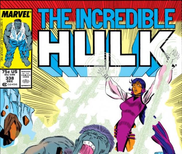 INCREDIBLE HULK #338 COVER