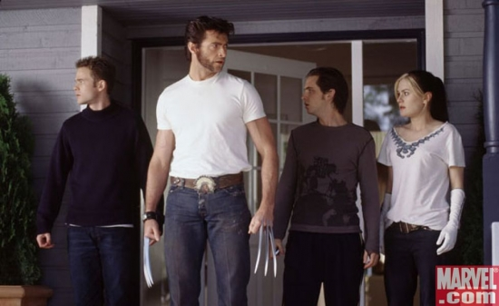 Iceman, Wolverine, Pyro and Rogue