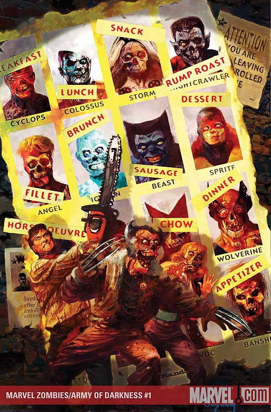 MARVEL ZOMBIES/ARMY OF DARKNESS #1 COVER