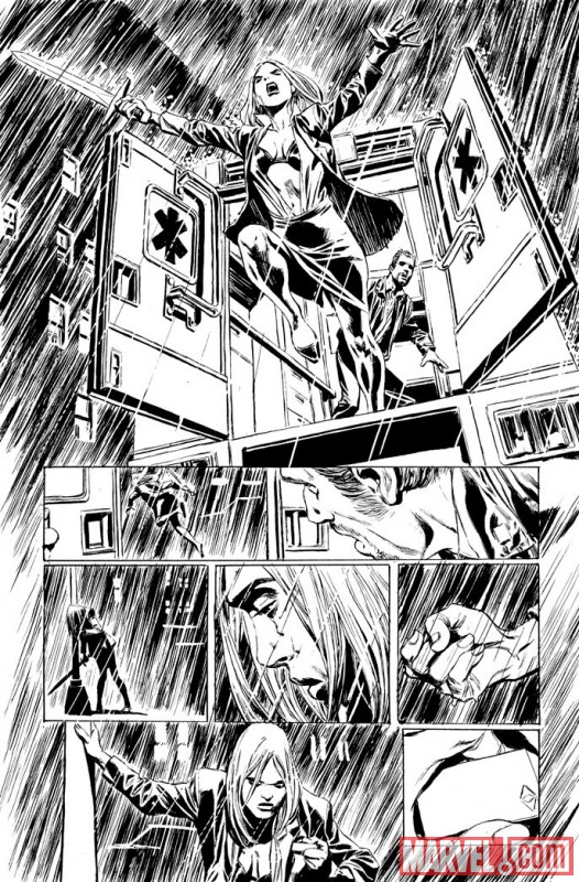 VALKYRIE #1 black and white preview art by Phil Winslade 5