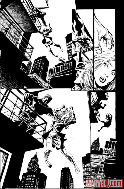 VALKYRIE #1 black and white preview art by Phil Winslade 2