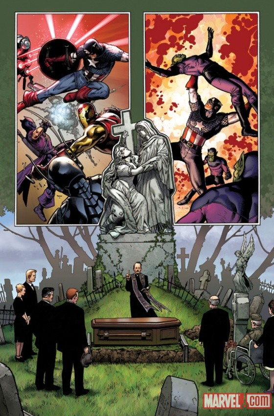 Captain America (2011) #1 preview art by Steve McNiven