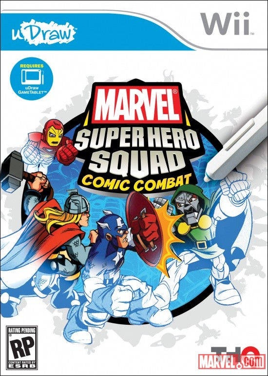 Super Hero Squad: Comic Combat Wii box art