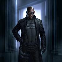 Nick Fury concept art by Andy Park from Marvel's The Avengers