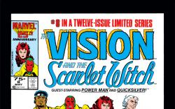Vision and the Scarlet Witch (1985) #8 Cover