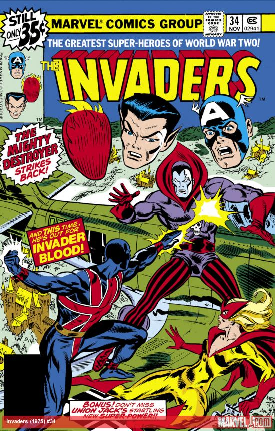 Invaders (1975) #34 Cover