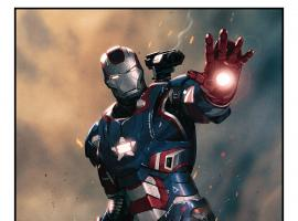Iron Patriot poster by Jorge Molina for Marvel's Iron Man 3 from Red Baron