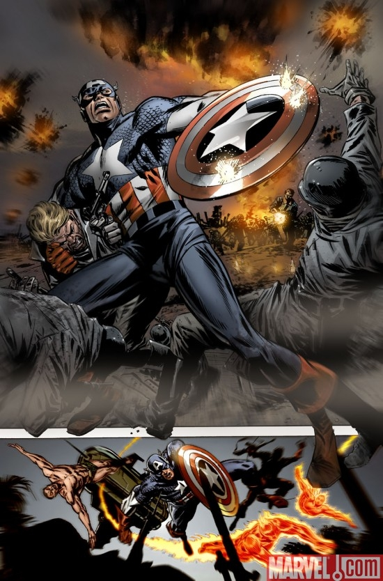 CAPTAIN AMERICA #600 Interior Art