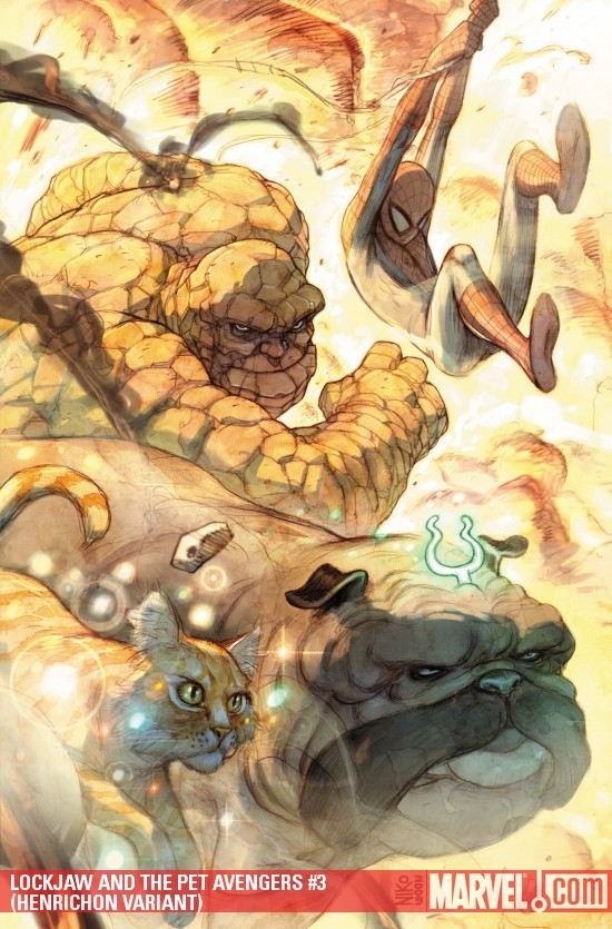 LOCKJAW AND THE PET AVENGERS #3 (HENRICHON VARIANT)